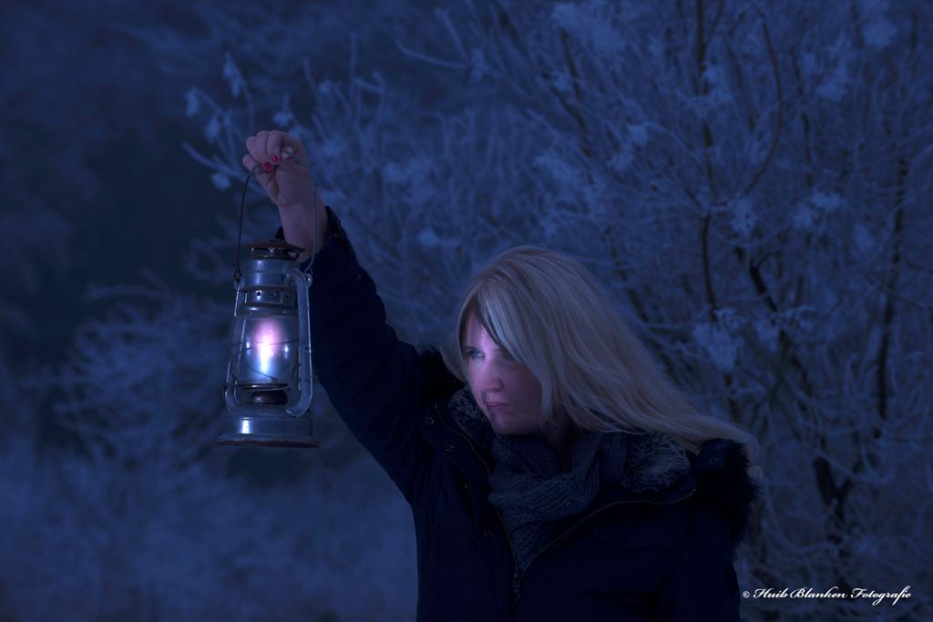 Huib Jorinde met lantaarn